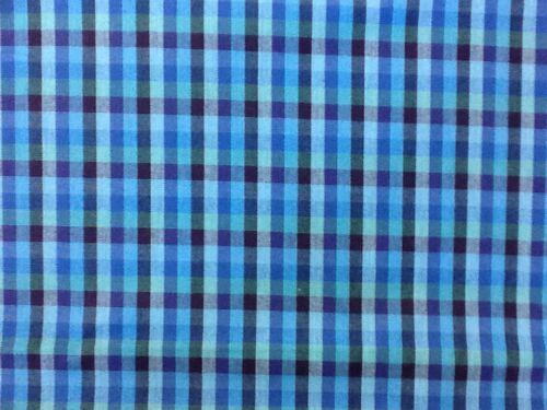 Los cheques de tela de algodón de artesanía estar salpicado-Azul y Morado 77 por el medio metro