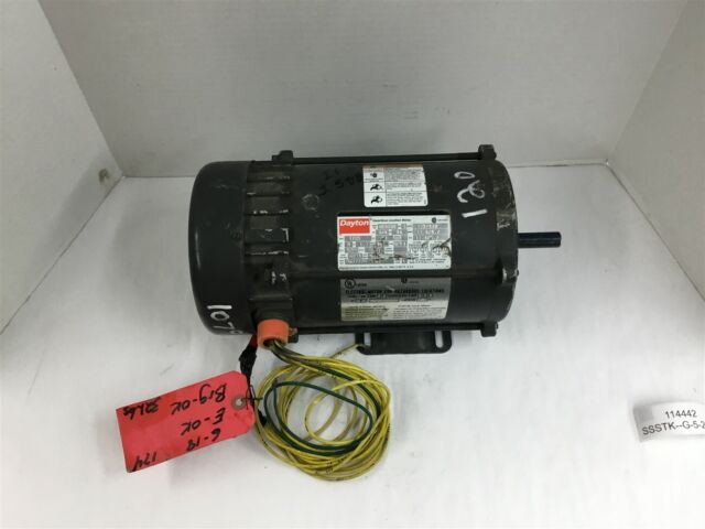 Dayton Hazardous Location Motor 3 4hp Cap Start 1725rpm 115 230v 6k040n For Sale Online Ebay