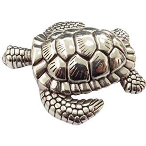 Gürtelschnalle Schildkröte Turtle silber de lux