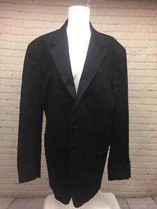 Theory-46-Regular-675-Men-039-s-3-Button-Down-Black-Sports-Coat-Blazer-Suit-Jacket