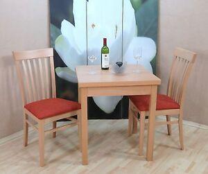 Tischgruppe Buche Massiv Natur Terracotta Essgruppe 2 X Stühle