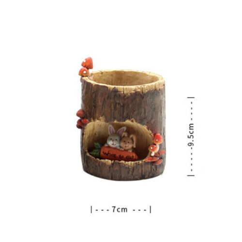 Mini Ceramic Resin Succulent Plant Container Desktop Garden Flower Pot Planter