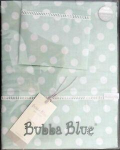 Boori-Cot-Sheet-Set-Polka-Dots-by-Bubba-Blue-Premium-100-Cotton