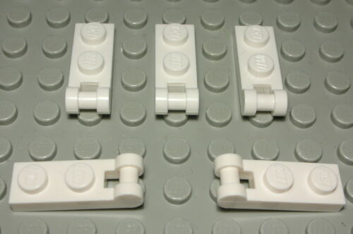 Lego Plate with Handle 1x2 White 5 Piece 2094