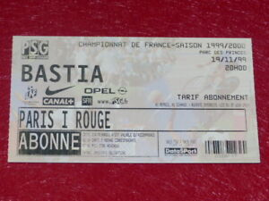 COLLECTION-SPORT-FOOTBALL-TICKET-PSG-BASTIA-19-NOVEMBRE-1999-Champ-France