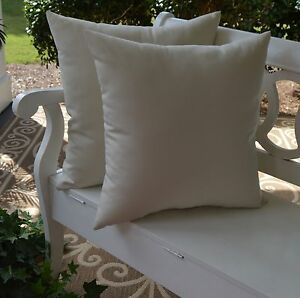 2 pack ivory white decorative indoor outdoor throw toss pillow made in usa ebay. Black Bedroom Furniture Sets. Home Design Ideas