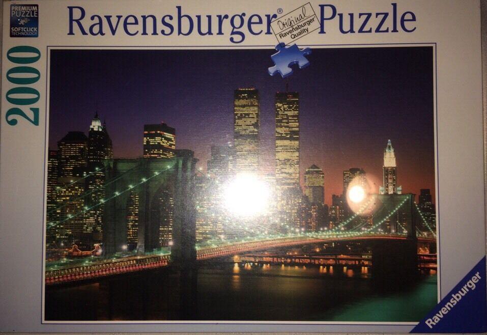 New Ravensburger NYC, Brooklyn Bridge, 2000 Pc Puzzle - R16609