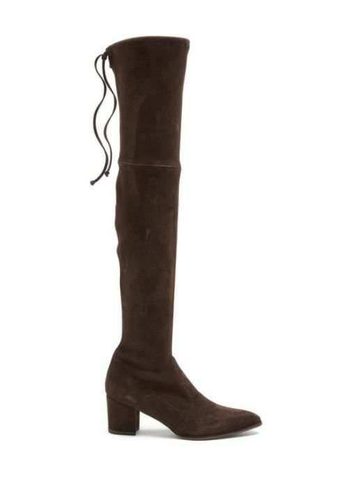 Stuart Weitzman Thighland Cola Brown Suede Over The Knee Boot 8.5