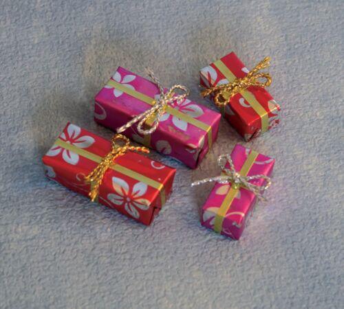 Casa de muñecas en miniatura 1//12th escala 4 presenta D2443 Navidad Regalo De Cumpleaños