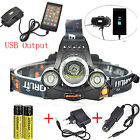 BORUiT 13000LM 3xXM-L T6 LED Headlamp Fishing Headlight 18650 Torch Work Light