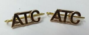Genuine-British-Air-Force-RAF-ATC-Air-Training-Corps-Shoulder-Title-Badges-NEW
