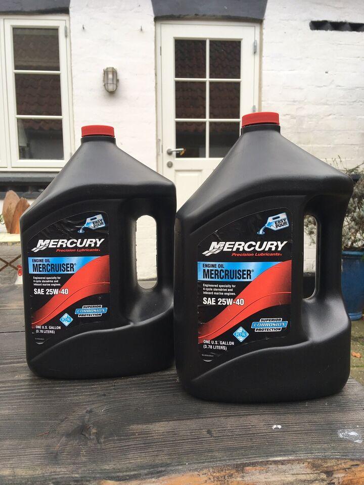2 x 4 Liter Mercruiser motorolie  Kan sendes på...