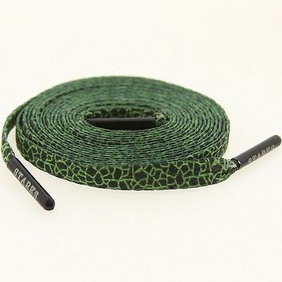 $6 Starks Laces x HUF Quake Green Shoelaces shoestrings 0038-45Inch-1S