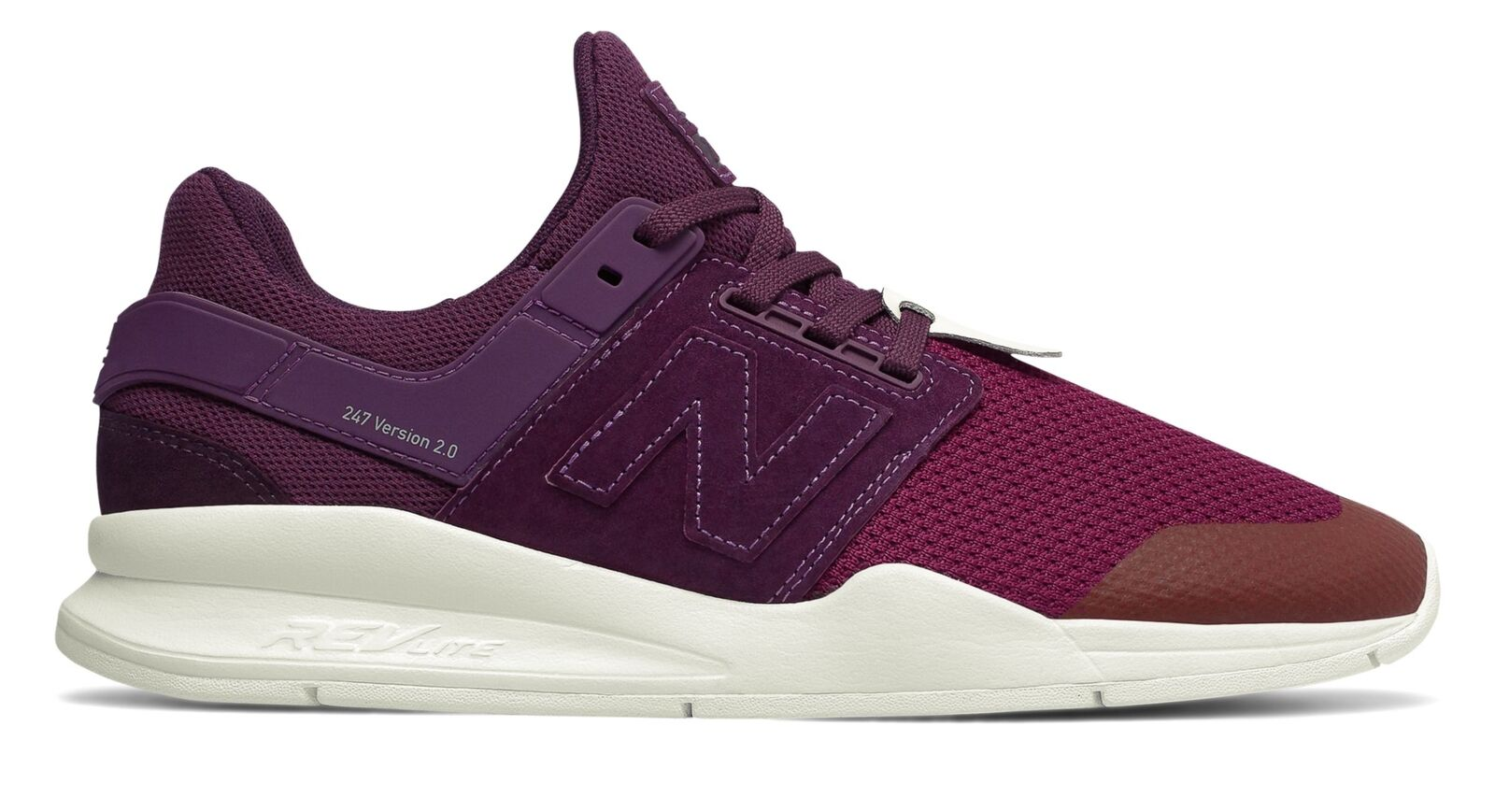 New Balance Male Men's 247 Time Zone Mens Lifestyle shoes Purple With Red