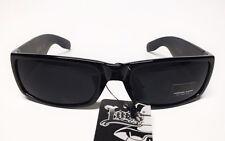 Schwarze LOCS Sonnenbrille Bikerbrille Oldschool Gangster West Coast Sunglasses