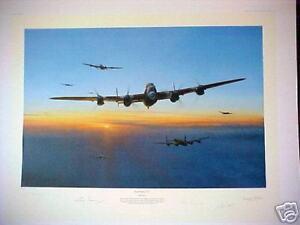 Target-Bearing-270-AVRO-Lancaster-Tirpitz-Raid-Robert-Taylor-Signed-Aviation-Art
