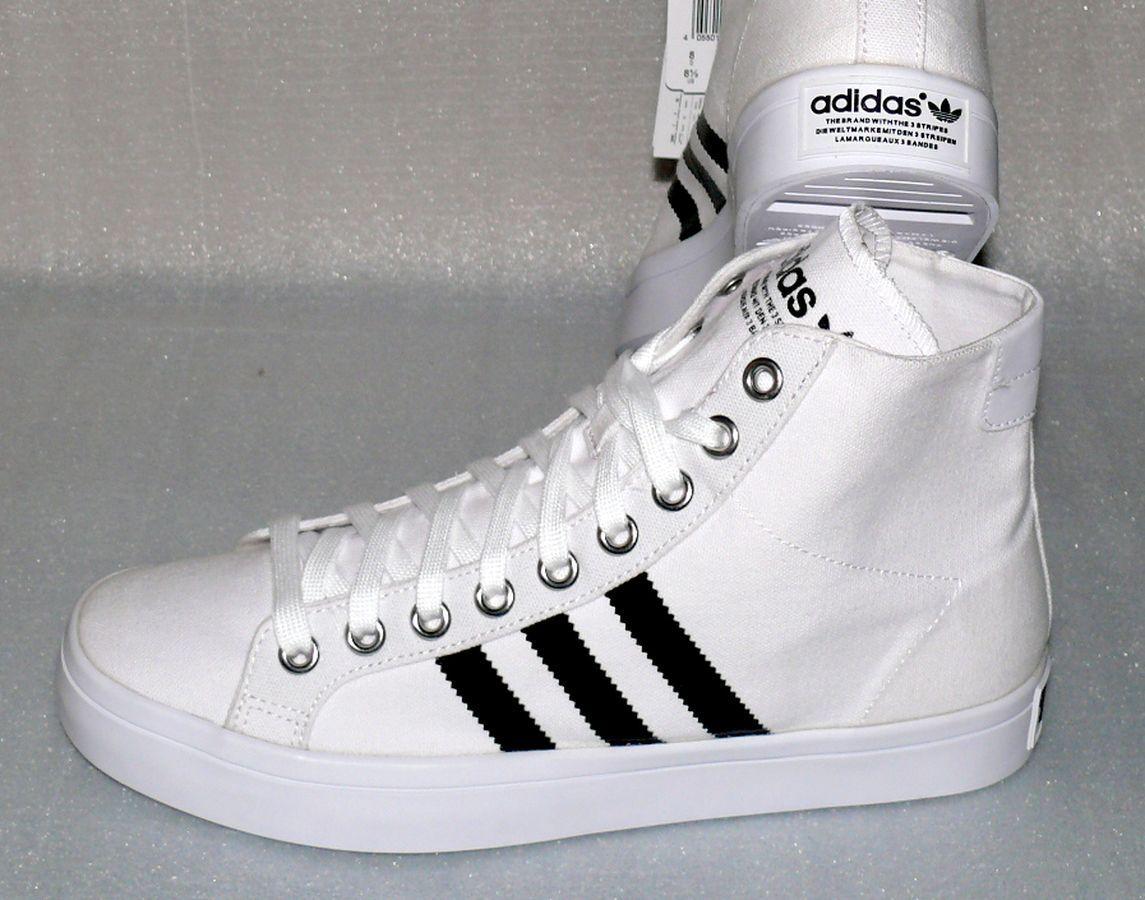 Adidas S78792 Court Vantage MID Herren Schuhe Sport Boots Gr 44 US10 Weiß Black