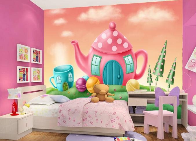 3D Teehaus Malerei Kind 7045 Tapete Wandgemälde Tapeten Bild Familie DE Summer  | Online Outlet Shop  | Authentische Garantie  | Qualität Produkt