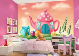 3D Teehaus Malerei Kind 7045 Tapete Wandgemälde Tapeten Bild Familie DE Summer