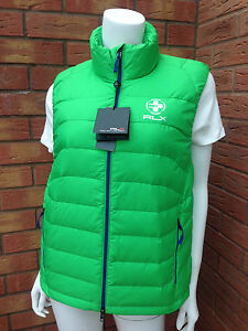 Bodywarmer Rlx Down Lauren S Green Packable Filled amp; Feather Ralph Gilet Size CZxzwgq