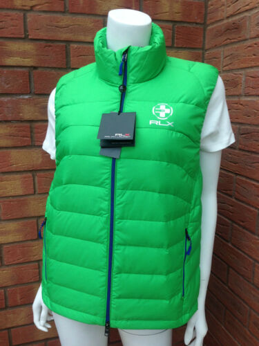 Lauren Filled Packable Ralph amp; S Bodywarmer Down Feather Size Gilet Rlx Green qCdH1d