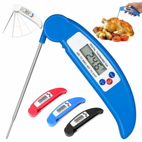 1x Digital LCD Food Thermometer Probe Temperature Kitchen Cooking Meat/&Water BBQ