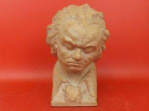 Buste-en-Terre-Cuite-signe-R-MEYNIAL-Rene-Ludwig-van-Beethoven-Vers-1930