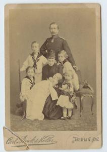 Vintage Cabinet Card Kaiser Wilhelm II Empress Augusta of Germany & Family