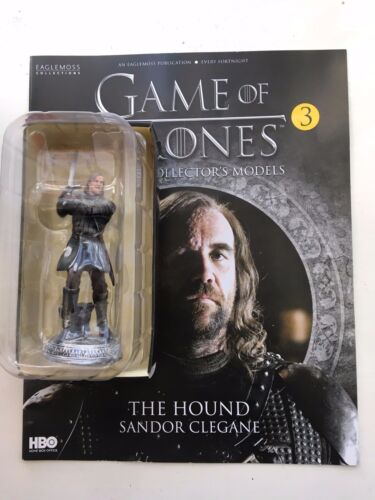 GAME OF THRONES numero 3 IL MASTINO Sandor Clegane Eaglemoss Figura COLLECTOR/'S