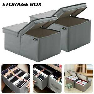 Foldable-Fabric-Storage-Box-with-lid-Drawer-Toys-Books-Clothes-Shelving-Organise