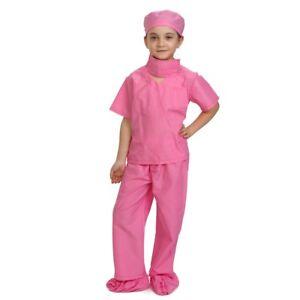 Dress Up America Rosa médico Scrubs Niño Disfraces Niños finja el juego Traje  </span>