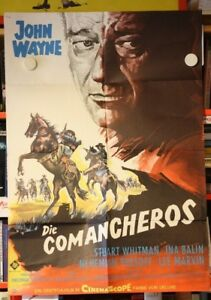 DIE-COMANCHEROS-Filmplakat-Poster-JOHN-WAYNE-Michael-Curtiz-1961-RARE