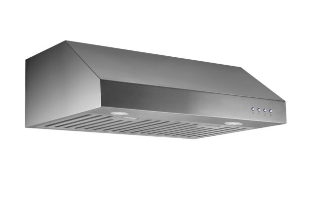"30"" New! LED Lights Stainless Steel Baffle Filters Under Cabinet Range Hood 032B"