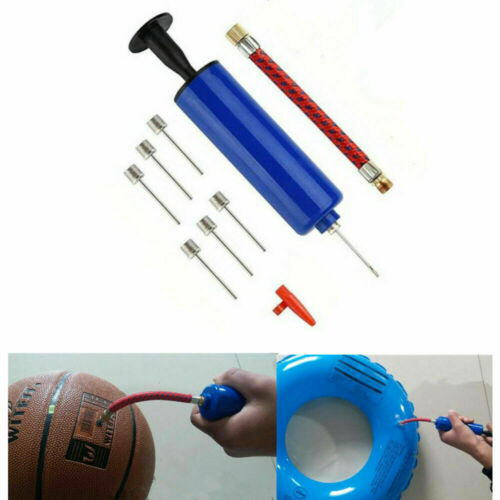 1x Hand Fast Inflating Air Pump With Needle Adapter Ball Football Sports Cheap