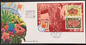 Singapore-FDC-Souvenir-Cover-Ox-Hong-Kong-97