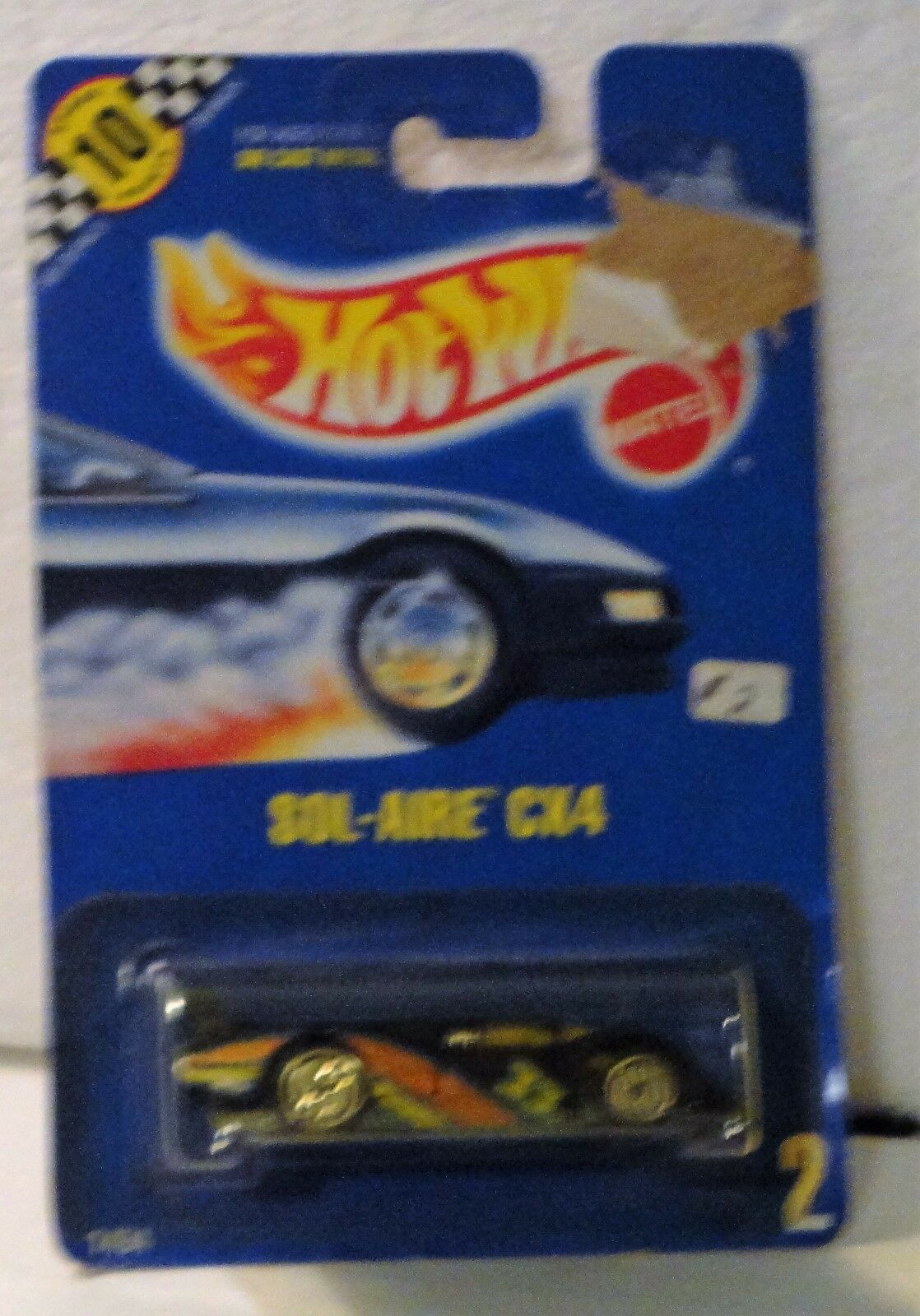 Hot Wheels 1991 Sol-Aire CX4  gold U H on bluee card Rare