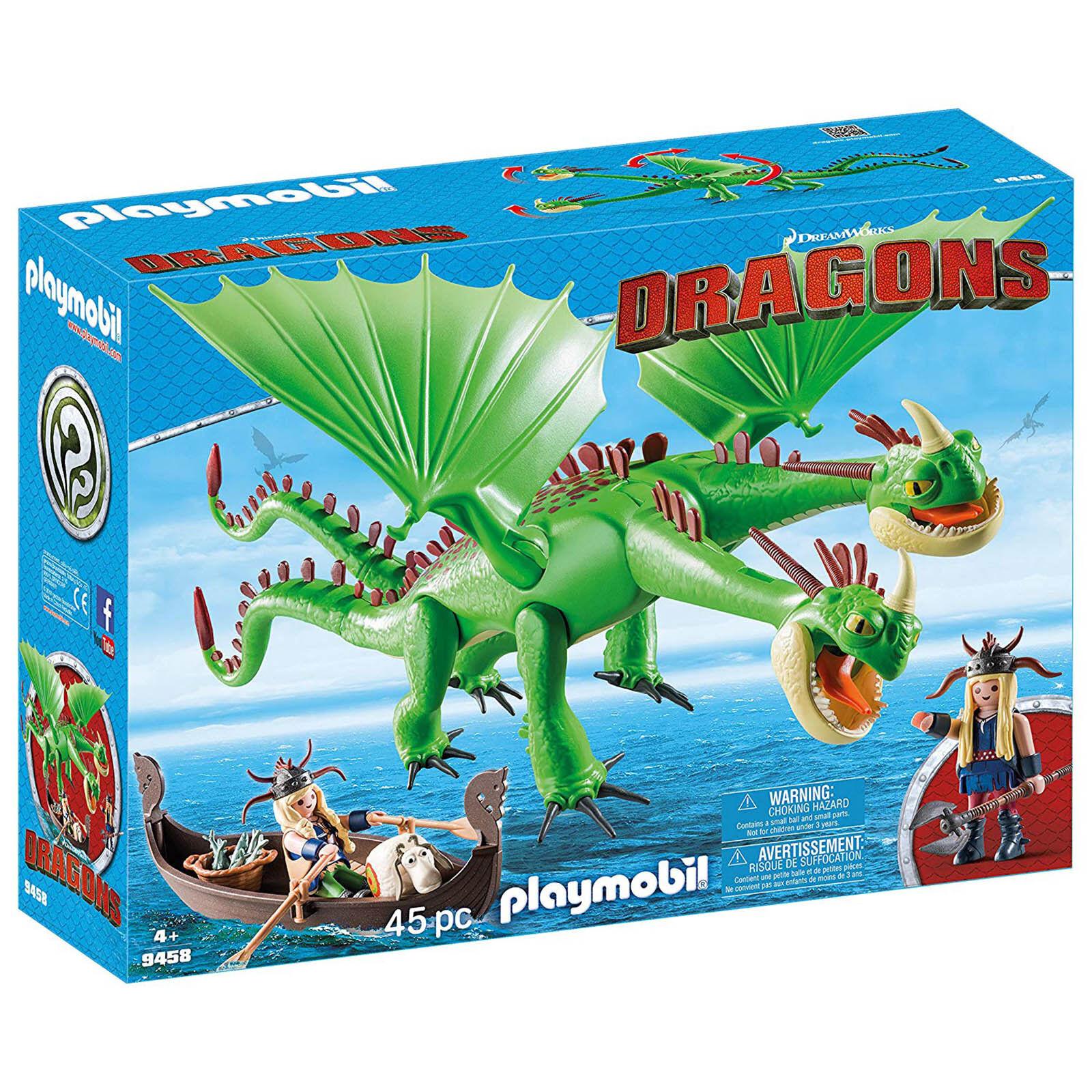 Playmobil Dragons Ruffnut And Tuffnut Building Set 9458 NEW Toys Kids