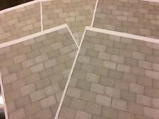 1/18 diorama concrete / stone effect paving ( 5 sheets)