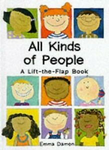 All-Kinds-of-People-a-Lift-the-Flap-Book-by-Emma-Damon-Hardback-Book-The-Fast