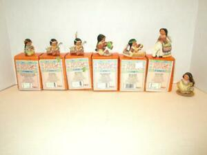 PRE-OWNED-Enesco-Friends-of-the-Feather-MINI-FIGURINES-set-of-7