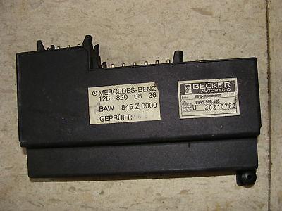 Mercedes Benz Becker 1268200826 Rare Anti Theft Alarm W124 W126 W201 Relay AMG D