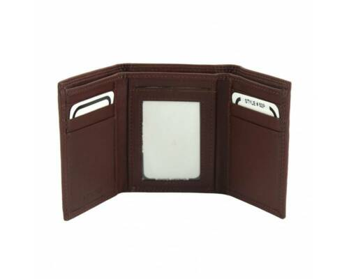 Italian Handmade Valter Trifold Men/'s wallet in soft calf-skin leather PF52P MAR