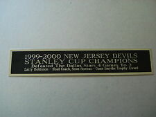 Devils 1999-2000 Stanley Cup Nameplate For A Hockey Jersey Display Case 1.5 X 8