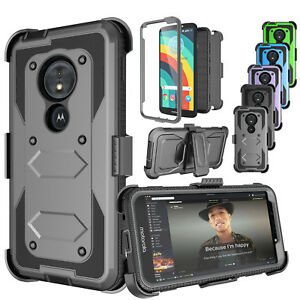 sale retailer a50ef 18a6d Details about For Motorola Moto G6 Play/Moto G6 Forge Clip Holster Case  Cover+Screen Protector