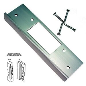 Silver Latch Security Protection Metal Door Frame ...