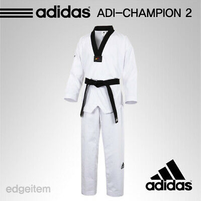 barbilla Hula hoop Frente  Adidas ADI-CHAMPION 2 Taekwondo Uniform CHAMP2 WTF Dobok Tae Kwon Do TKD    eBay