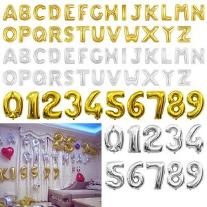1640 Giant Foil Alphabet Number Balloons Helium Large Happy