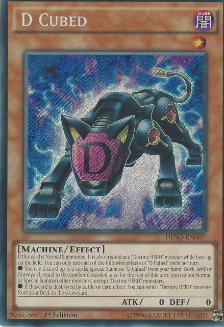 YU-GI-OH CARD: D CUBED - SECRET RARE - DESO-EN007 - 1st EDITION