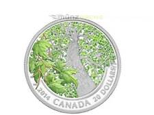 20 $ Dollar Canadian Maple Canopy Spring Splendour Ahorn Kanada 1 oz Silber 2014