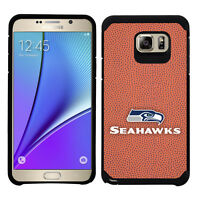 Retail Box Seattle Seahawks Samsung Galaxy Note 5 Pebble Grain Feel Case